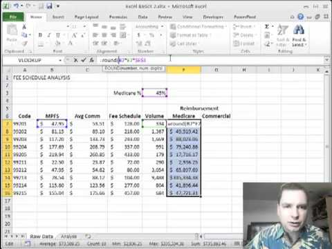 Excel video 232 fee schedule example part 1 youtube excel video 232 fee schedule example part 1 pronofoot35fo Choice Image
