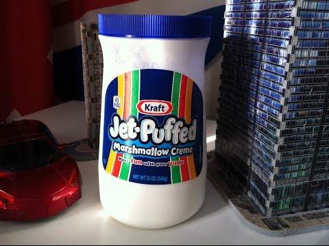Jet puffed marshmallow creme - produit américain.