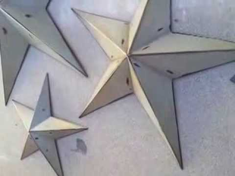 Set Of 3 Handcrafted Rustic Metal Wall Decor Stars