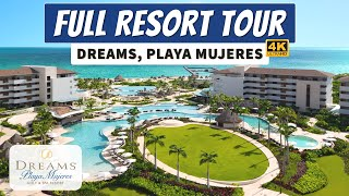 Dreams Playa Mujeres Golf & Spa Resort | All Inclusive Family Resort | Full Walkthrough Tour 4K
