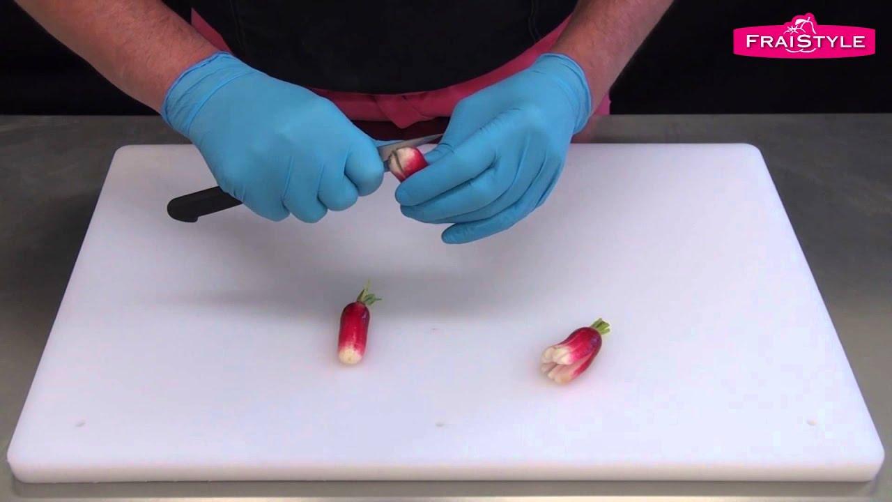 Comment d couper un radis pour une d coration esth tique - Idee deco buffet froid ...