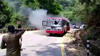 Ksrtc Bus Accident Cause Of Catch On Fire Today in sakalesh pura ghat