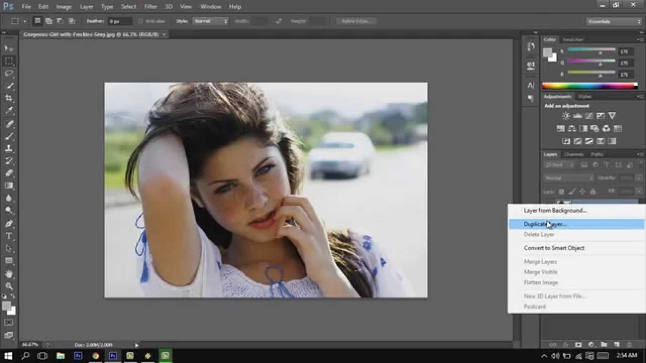 Adobe photoshop cs6 3d photo effect tutorial youtube baditri Images