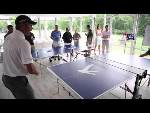 Pro golfer Matt Kuchar: table tennis star