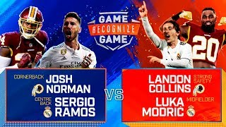 Ramos, Modric and Courtois vs. Collins and Norman | Real Madrid x NFL | Game Recognize Game