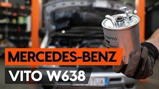 Hvordan bytte Drivstoffilter MERCEDES-BENZ VITO Bus (638) - online gratis video