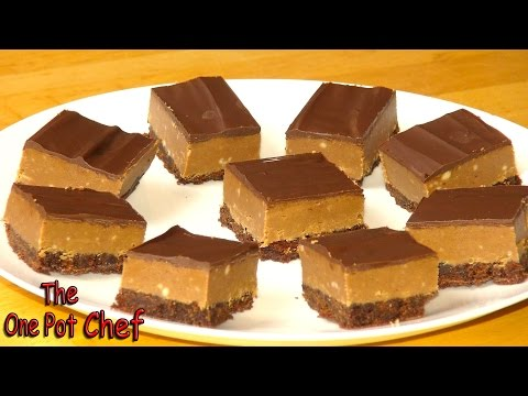 Chocolate Peanut Butter Squares | One Pot Chef