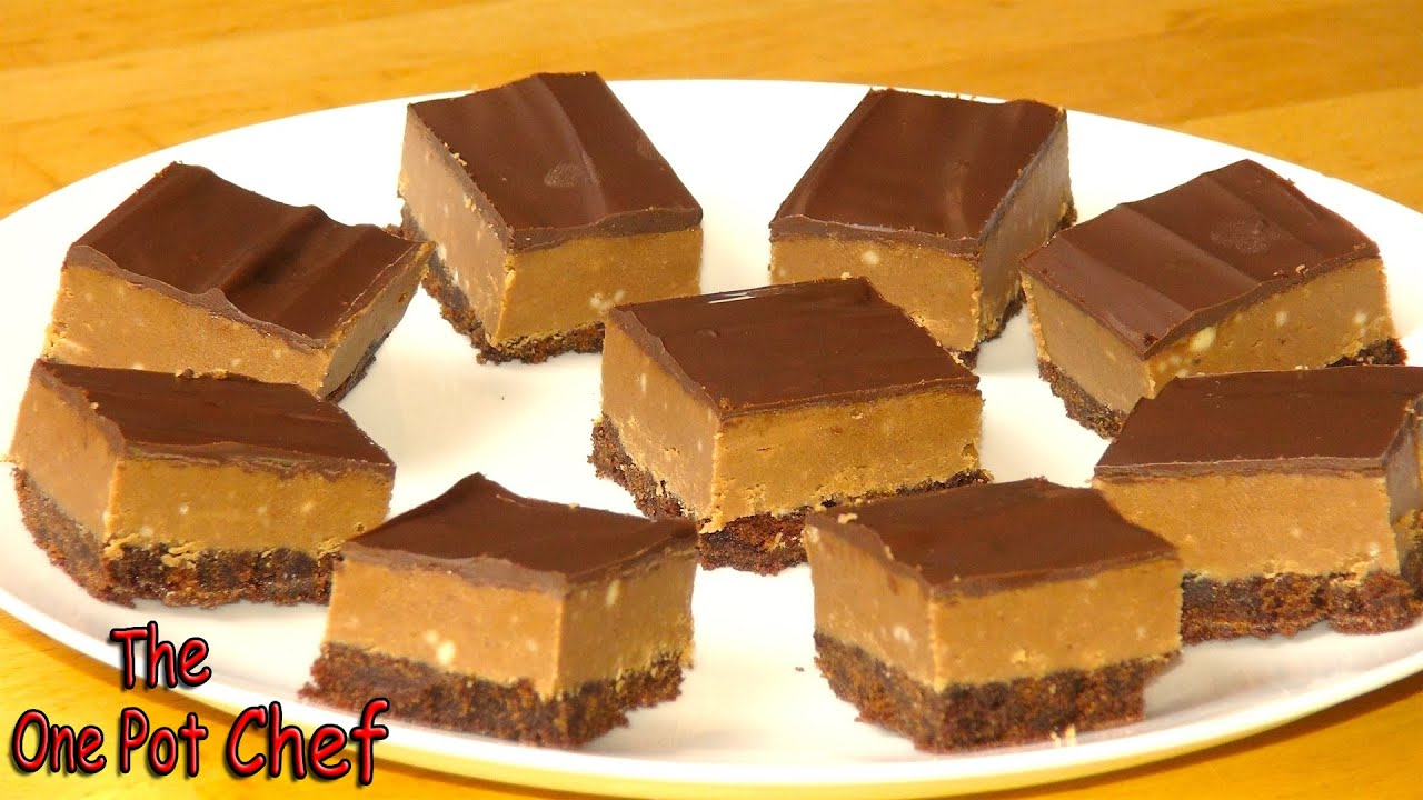 Chocolate Peanut Butter Squares | One Pot Chef - YouTube