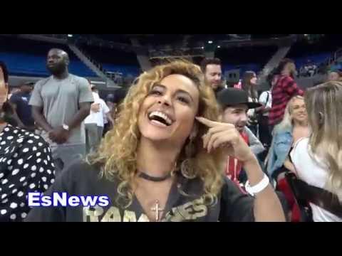 Liza Hernandez Floyd Mayweather G/F On FM vs Pacquaio 2 EsNews Boxing