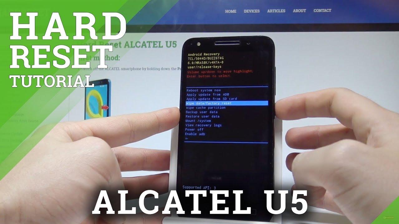 How to Hard Reset ALCATEL U5 - Bypass Screen Lock  HardReset info
