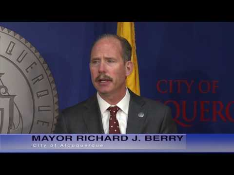 Mayor Richard J. Berry, City of Albuquerque  News Conference  3-17-17