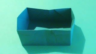 Видео урок как делать коробочку трансформер оригами своими руками