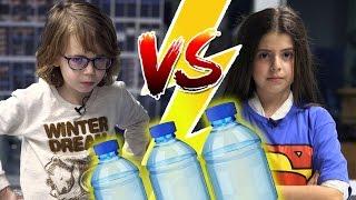 Krem Şanti Cezalı Water Bottle Flip Challenge - Sessiz Olmak Zorundayız!