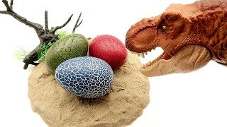 T Rex Try to Steal Dinosaur Eggs! 4D PUZZLE DINOSAUR JURASSIC WORLD2 Dinosaur Toys for Kids 공룡 알 부화