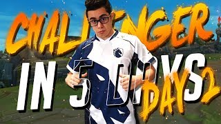 TFBlade   UNRANKED TO CHALLENGER IN 5 DAYS!! DAY 2