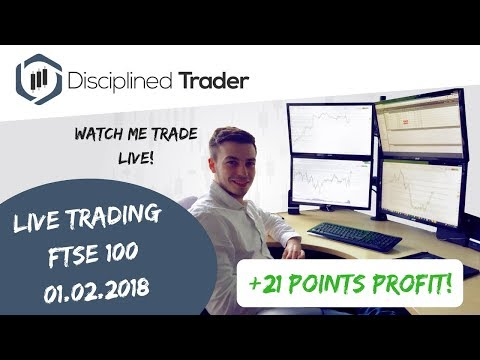 Live Day Trading (Indices/Forex) - 1st February 2018 - Wait For The Right Setup