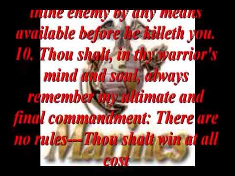 Ten Commandments of SpecWar