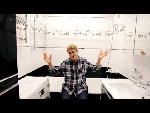 Ремонт ванной комнаты и туалета под ключ 4м2. Отзыв и видео обзор.