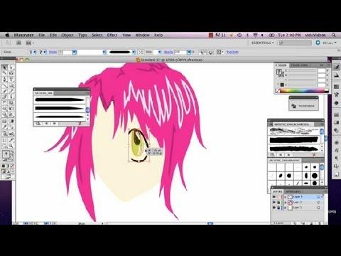 anime character tutorial for illustrator cs3 adobe illustrator