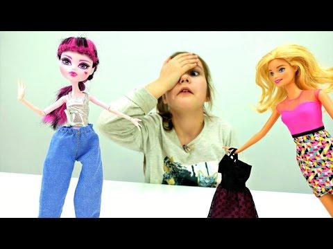 Одевалки: Куклы Барби и #МонстерХай в магазине 👗 Платье для Дракулауры 🎀 Мультик Барби
