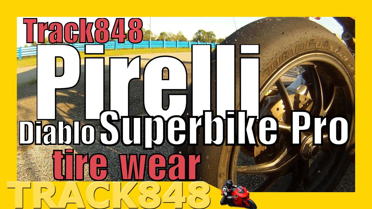Pirelli Diablo Superbike Pro Tire Wear Youtube