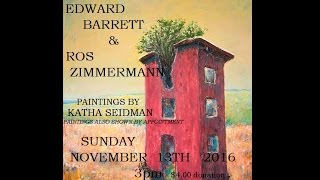 Ed Barrett & Ros Zimmermann Reading at Xit The Bear. November, 2016