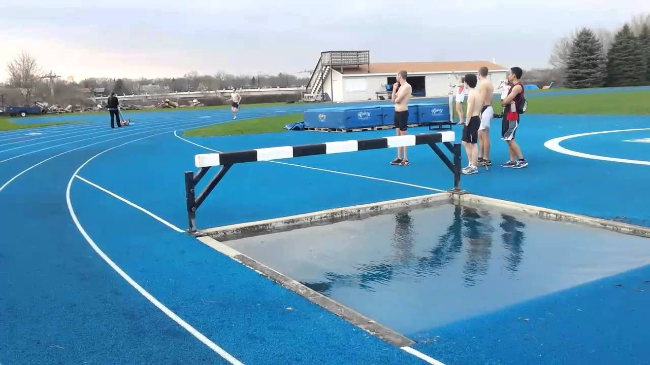 Lawrence university steeplechase water jumps youtube for Steeple chase