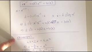 Bernoullis ligning (substitution v. første ordens differentialligninger)