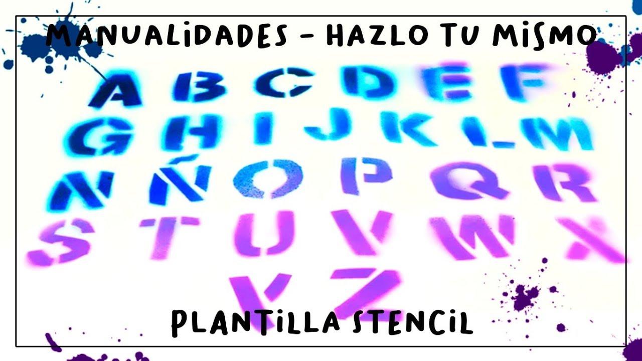 Cómo Hacer Una Plantilla Stencil Con Letras Del