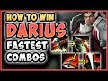 HOW TO WIN   ADVANCED FASTEST DARIUS COMBO! Darius Ranked Guide Season 8 Gameplay! League of Legends