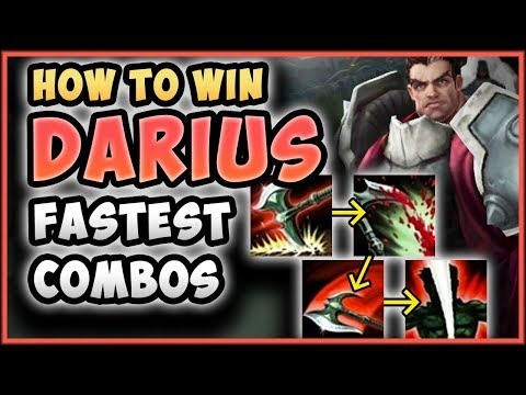 HOW TO WIN  ADVANCED FASTEST DARIUS COMBO Darius Ranked Guide Season 8 Gameplay League of Legends