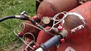 видео как заправить газовый баллон в домашних