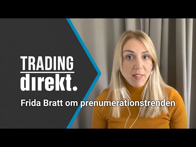 Trading Direkt 2021-09-07   EQT går in i Storytel // Frida Bratt om prenumerationstrenden