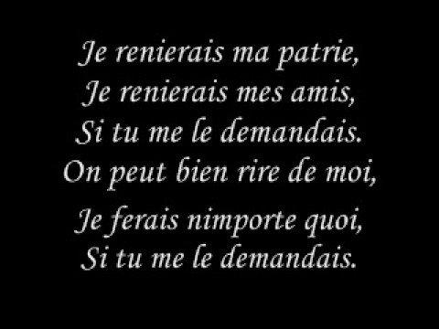 Edith Piaf - L'hymne à L'amour (paroles)