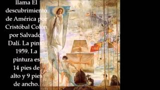 El descubrimiento de América por Cristóbal Colón por Salvador Dalí