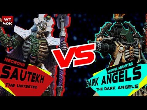 Necrons Vs. Dark Angels Warhammer 40k Battle Report