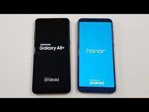 Samsung Galaxy A8+ (2018) vs Honor V10 Speed Test Comparison !