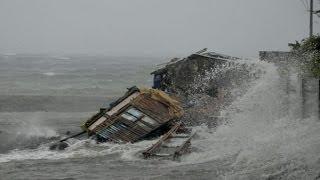Powerful Typhoon Smashes Philippines