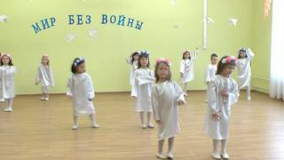 Участники конкурса  Салют победы, с танцевальной композицией Мир без войны