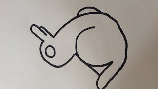 how to draw Optical Illusion - duck and rabbit