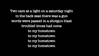 Bruce Springsteen - My hometown (Lyrics)