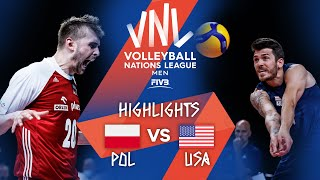 POL vs. USA - Highlights Week 2 | Men's VNL 2021