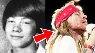Axl Rose from 12 to 55 years old