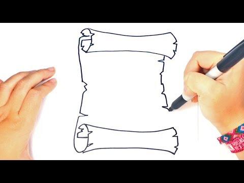 Cómo dibujar un Pergamino paso a paso | Dibujo fácil de Pergamino