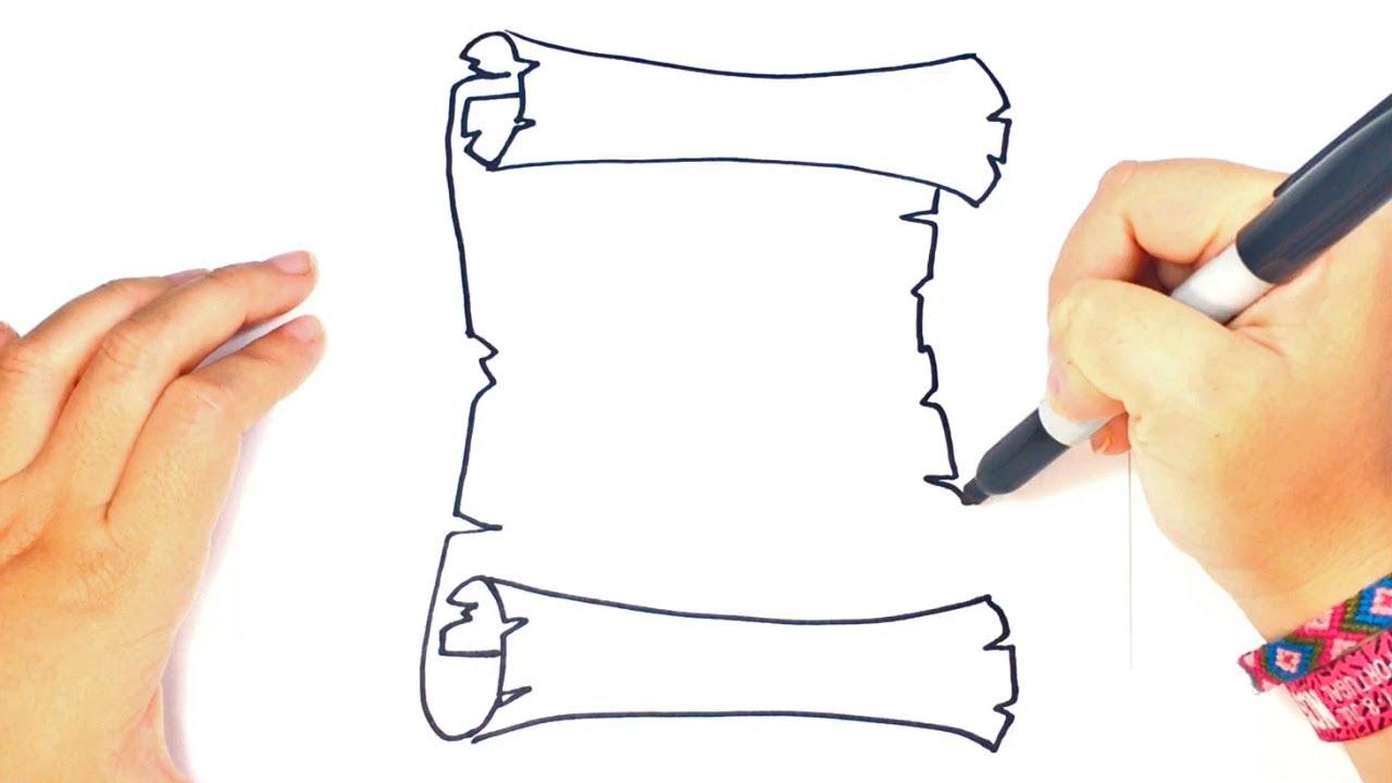Cómo Dibujar Un Pergamino Paso A Paso