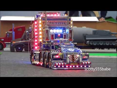 Rc Trucks @ Leyland. 8 November 2014. Tamiya Scania V8 Casca