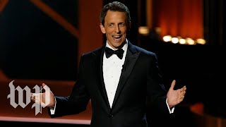 Meyers takes aim at sexual harassment in his Golden Globes monologue