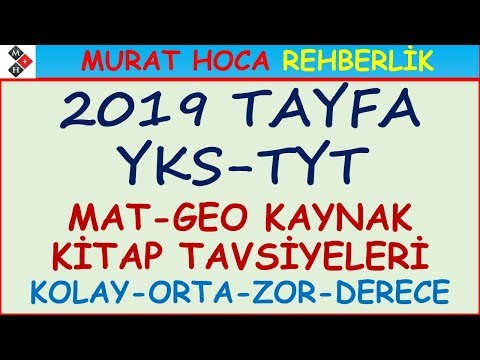 2019 GÜNCEL TYT-AYT MAT-GEO KAYNAK KİTAP ÖNERİSİ