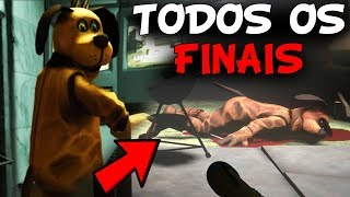 TODOS OS 7 FINAIS + FINAIS EXTRAS DO CACHORRO DO MAU! - Duck Season (JOGO DE TERROR)