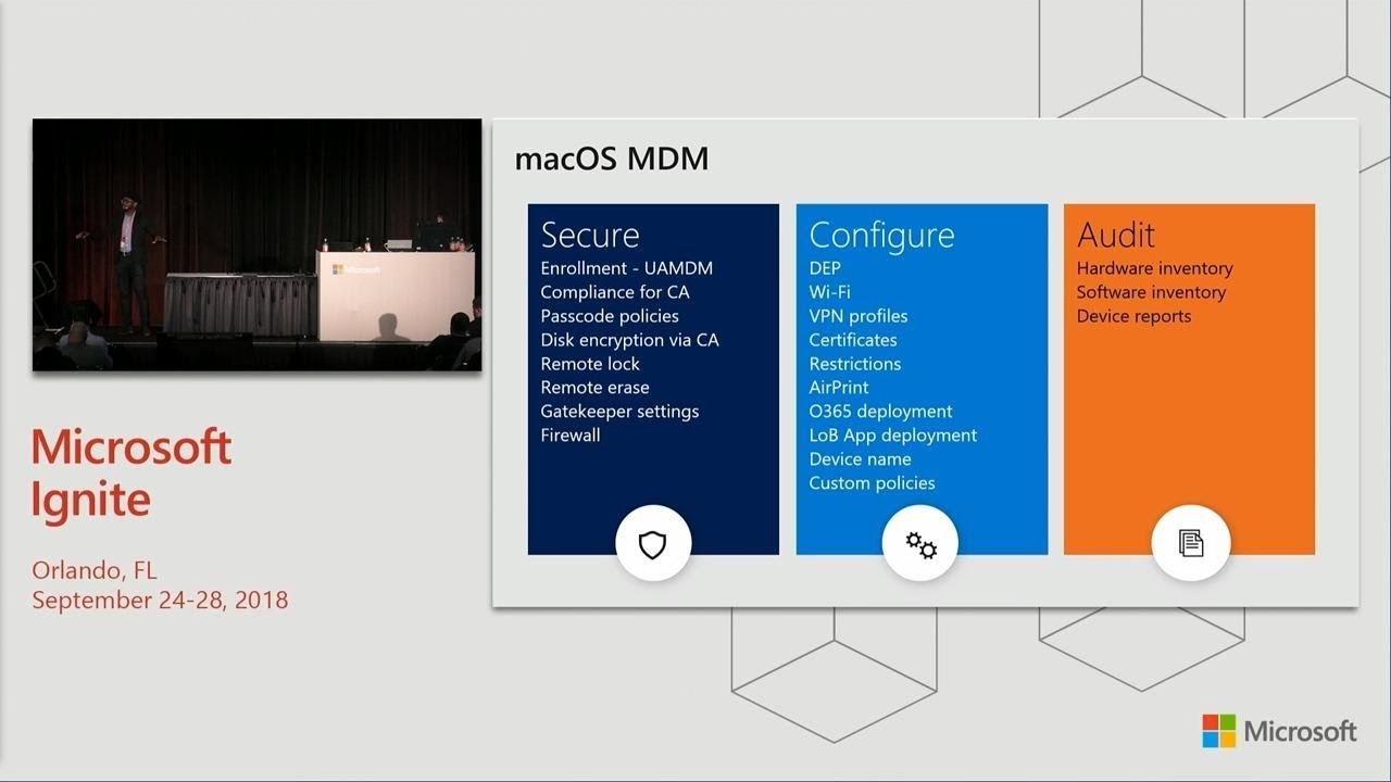 Manage and secure iOS and MacOS devices and apps with Microsoft Intune -  BRK3103